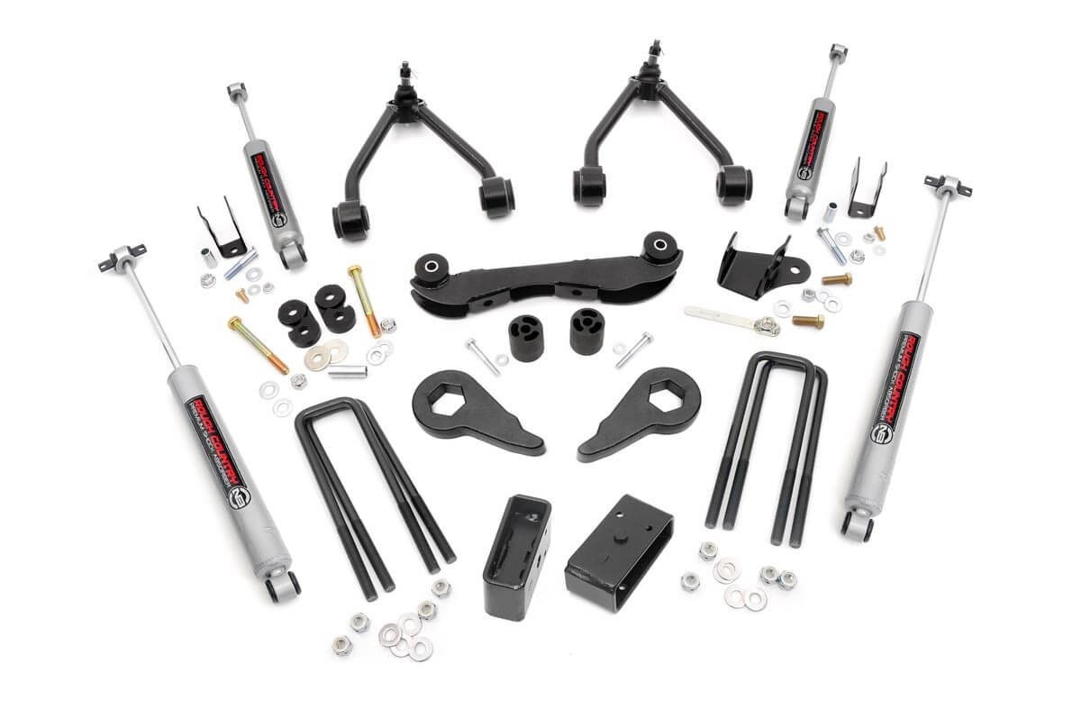 hight resolution of 2 3in suspension lift kit for 88 98 chevy gmc 4wd 1500 pickup suv rough country suspension systems