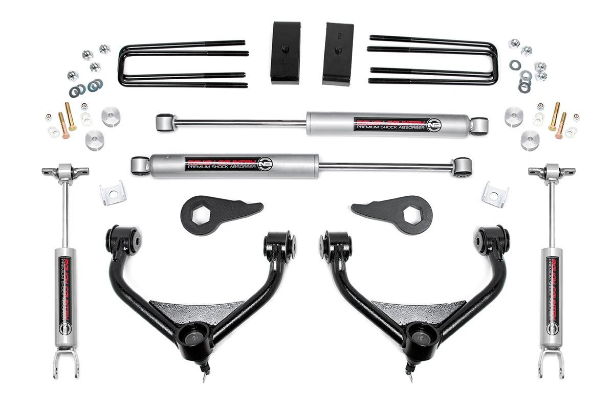 3 5in Bolt On Suspension Lift Kit For 11 19 Chevy Gmc