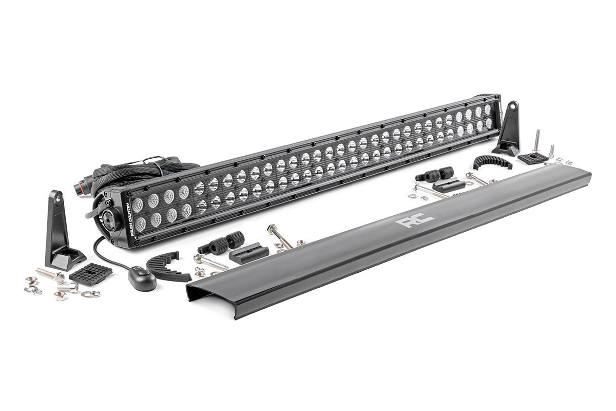 hight resolution of 30 inch dual row cree led light bar black series 70930bl rough country suspension systems