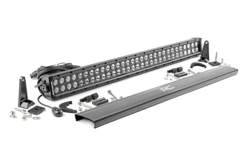 small resolution of 30 inch dual row cree led light bar black series 70930bl rough country suspension systems