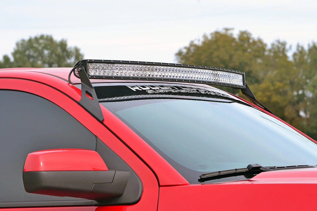 hight resolution of gm 54 inch curved led light bar upper windshield mounts 14 18 1500
