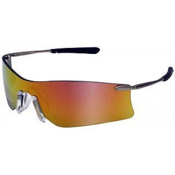 Crews Rubicon Safety Glasses Metal Frame-fire Mirror Lens