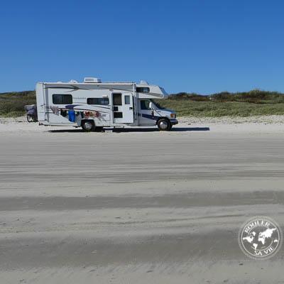 Camper sur les plages du Texas