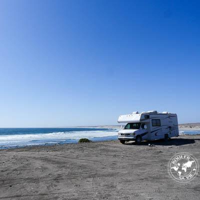 Camper sur les plages de Baja