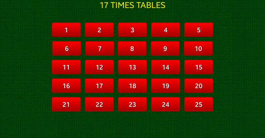 17 Quick Times Tables 17