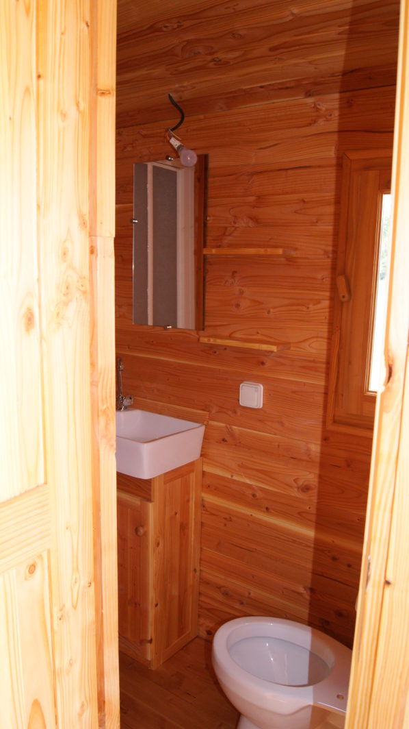 Salle de bain, wc roulotte