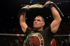 Cain Velasquez UFC 160 Holding Up the Belt After Defeating Antonio Silva