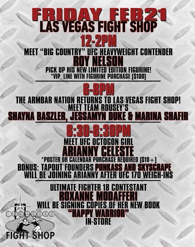 Arianny Celeste UFC 170 Signing at LV Fight Shop on 2/21/14