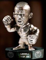 "Chuck ""The Iceman"" Liddell UFC Titans Series 1 Limited Edition Silver Hall of Fame Variant"