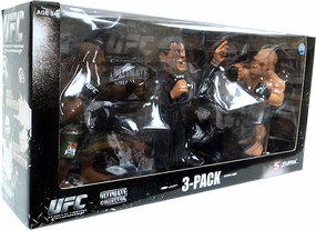 "Quinton ""Rampage"" Jackson Vs Wanderlei ""The Axe Murderer"" Silva With Bruce Buffer UFC Fan Expo 2010 Boston 3-Pack"