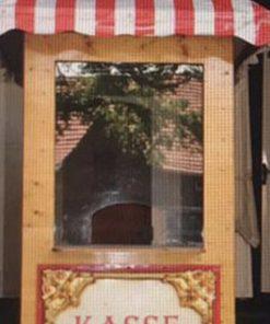 Nostalgische Kassenhaus zum Kassieren