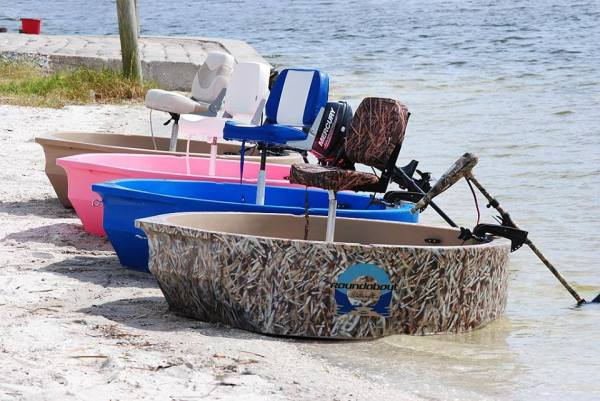 solo skiff boats on the beach
