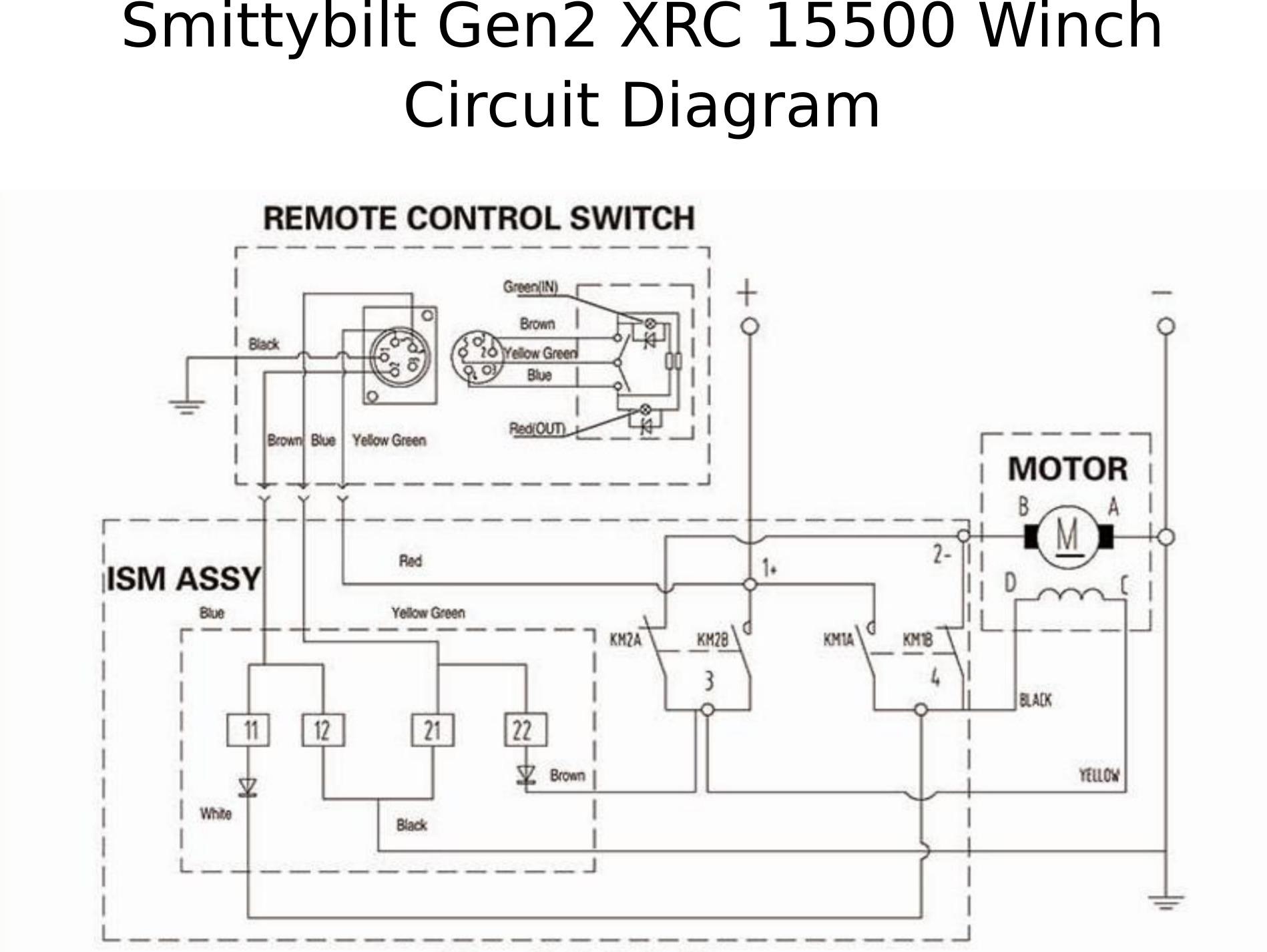 hight resolution of  smittybilt gen2 xrc 15500 winch 97415 roundforge on toyota tacoma trailer wiring diagram