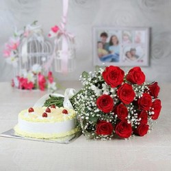 Birthday Cake Flowers Delivery Rourkela
