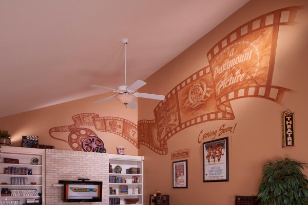 Wall Mural Personal Home Theater