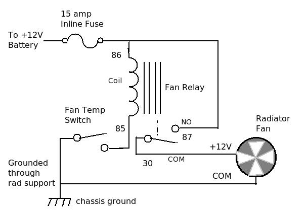 Relay Wiring Diagram For Electric Fan