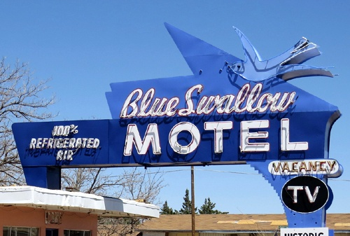 did back to the future get an idea from blue swallow motel route 66 news blue swallow motel route 66