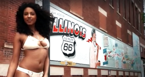 A listing of Route 66 sites used in the Sports Illustrated swimsuit issue