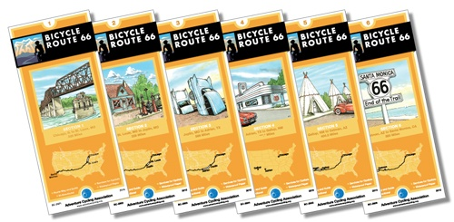 Bicycle Route 66 map set is now available
