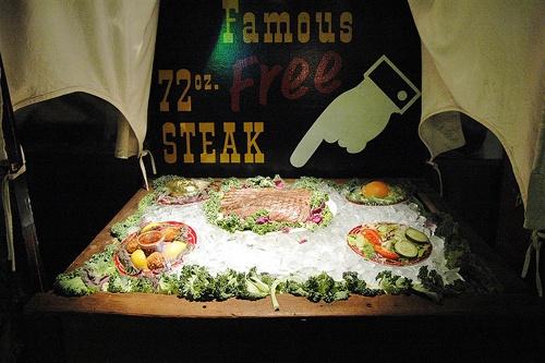 Big Texan 72-ounce steak