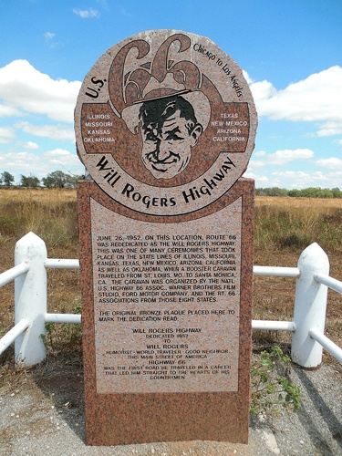 Will Rogers Highway marker, Texola