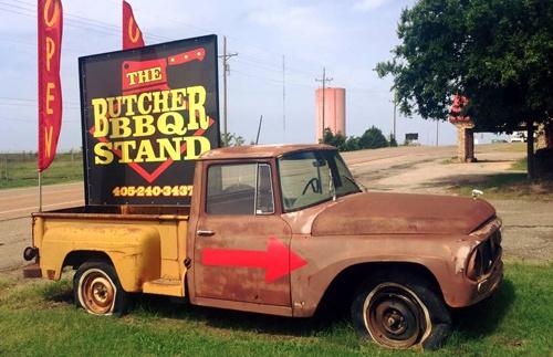 Butcher BBQ Stand, Wellston, OK