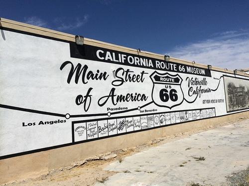 California Route 66 Museum mural, Victorville