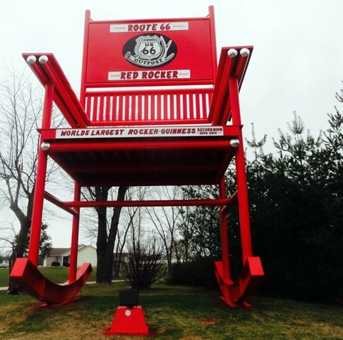 Astonishing Worlds Largest Rocker Gets New Color New Name Route 66 News Alphanode Cool Chair Designs And Ideas Alphanodeonline