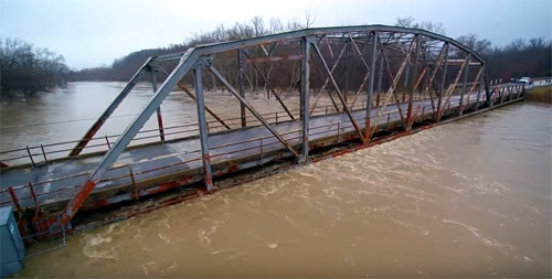 High water in central Missouri