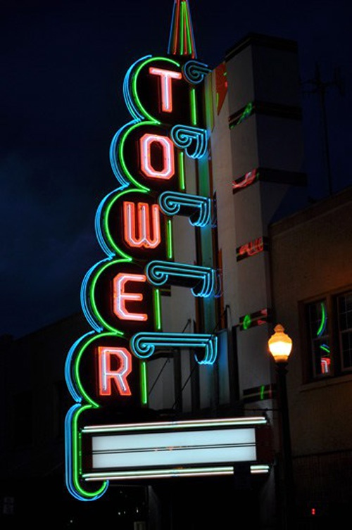 Tower Theatre neon, 2010