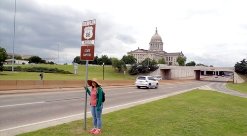Reporter finishes walk on Oklahoma City's Route 66