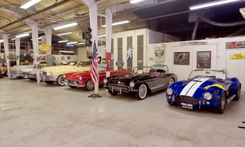 Guy Mace's Route 66 Car Museum opens