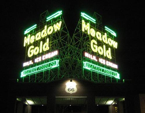 Meadow Gold sign, Tulsa