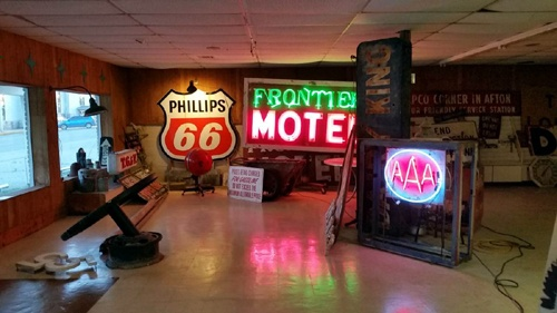 Building with vintage sign collection is for sale - Route 66 News
