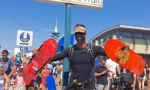 Damien Rider skateboards Route 66 in 56 days