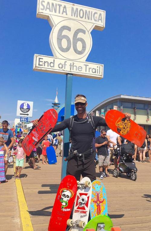 Damien Rider at Santa Monica Pier