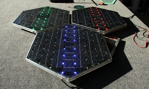 More about Route 66 Welcome Center's so-called solar road