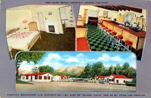 Red Chief Motel postcard