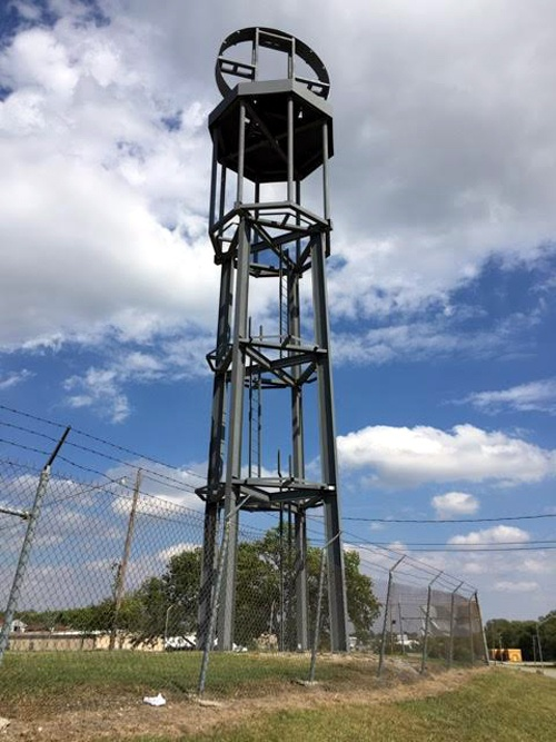 Giant gas pump at Heart of Route 66 Auto Museum nears completion