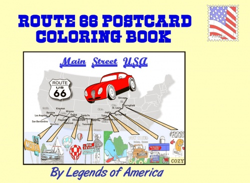 Route 66 Postcard Coloring Book cover