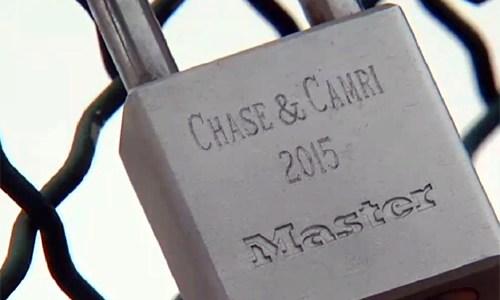 'Love locks' being placed on Cyrus Avery Centennial Plaza bridge