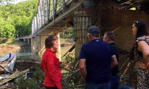Congresswoman tours flood-stricken Devil's Elbow