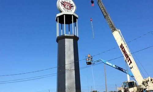 World's Tallest Gas Pump in Sapulpa nears completion