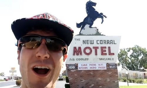 Funny or Die's Overly Excited Tourist visits Victorville