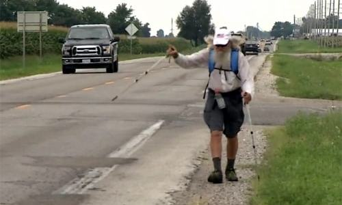 78-year-old man is walking the length of Route 66