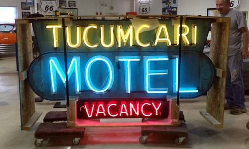 Tucumcari Motel sign emerges from the ashes