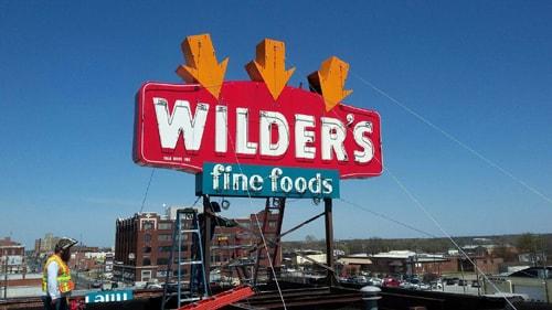 Wilder's neon sign reinstalled; relighting event set for Saturday