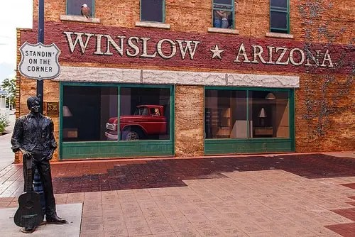 Standin' on a Corner statue in Winslow to mark 20th anniversary