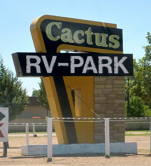 Cactus RV Park sign in Tucumcari removed; property may be sold