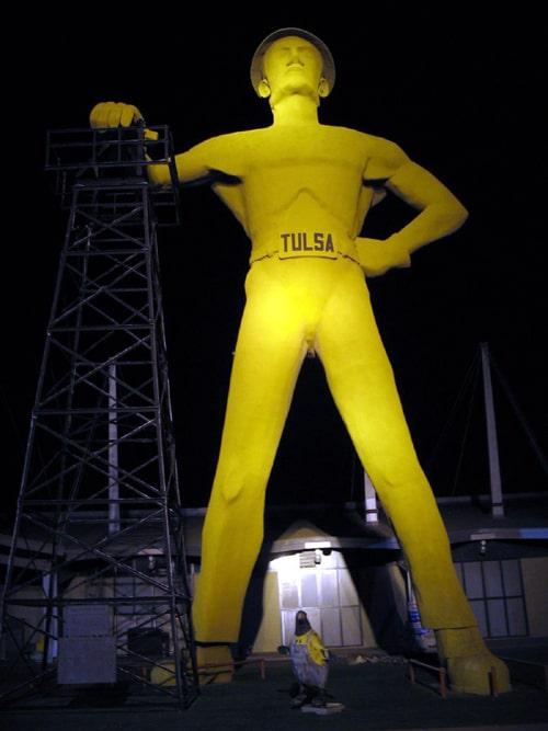 Golden Driller Plaza in Tulsa undergoes renovations